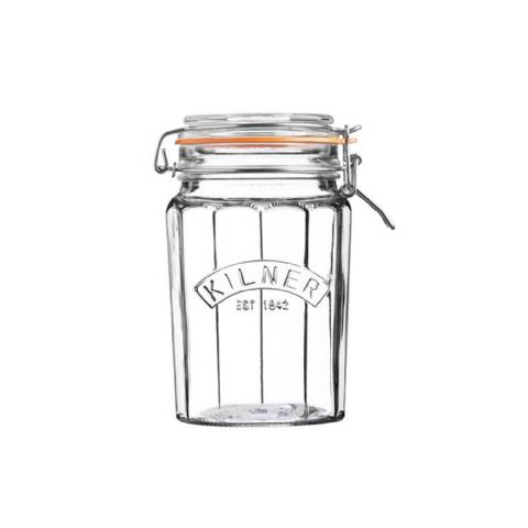 Kilner 950ml Facetted Glass Clip Top Jar